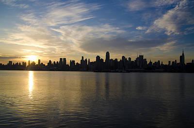 Hudson Photograph - Big Apple Dawn  by Bill Cannon
