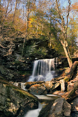 Photograph - Big Autumn View At B. Reynolds Falls by Gene Walls
