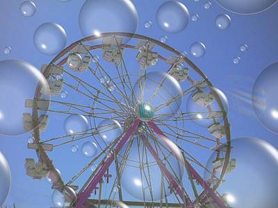 Big B Bubble Ferris Wheel Art Print