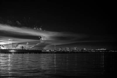 Milwaukee Skyline Photograph - Big Bang 2013 - The Aftermath by CJ Schmit