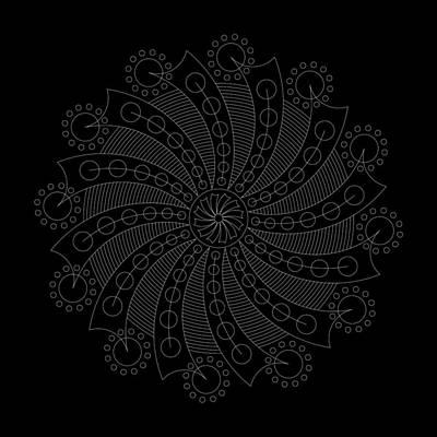 Mayan Digital Art - Big Bang Inverse by DB Artist