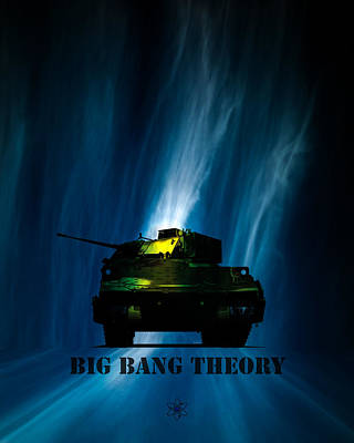 Neutron Digital Art - Big Bang Theory by Bob Orsillo