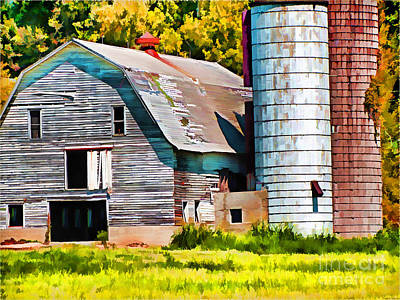 Photograph - Big Barn Digital Paint by Debbie Portwood