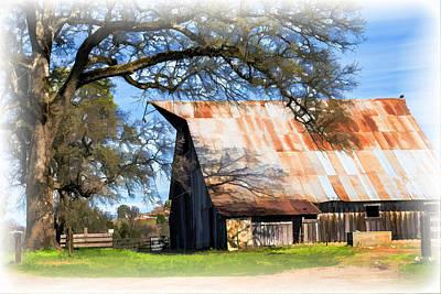 Digital Art - Big Barn On Mccourtney by William Havle
