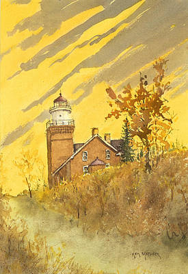 Painting - Big Bay Lighthouse by Ken Marsden