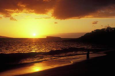 Photograph - Big Beach Sunset Maui Hawaii by John Burk
