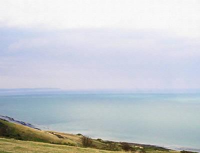 Beach Scenes Photograph - Big Beachy Head Sky ... As A Canvas by Connie Handscomb