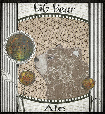 Abstracted Animal Painting - Big Bear Ale by Sarah Ogren