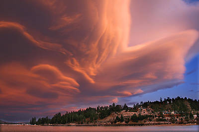Photograph - Big Bear Lake Storm by Sharon Beth