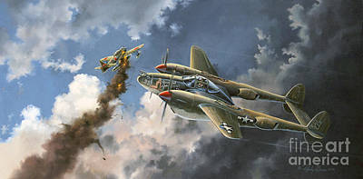 Warplane Painting - Big Beautiful Lass by Randy Green