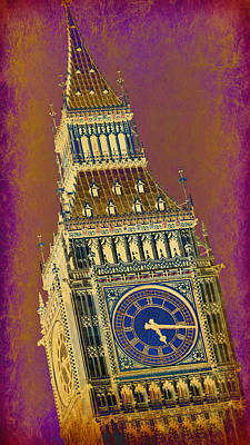 London Skyline Royalty-Free and Rights-Managed Images - Big Ben 11 by Stephen Stookey