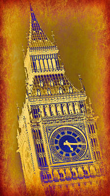 Historic Architecture Photograph - Big Ben 3 by Stephen Stookey
