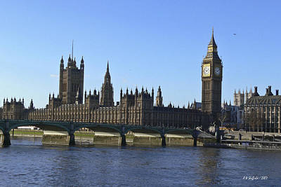 Photograph - Big Ben And Houses Of Parliament by Allen Sheffield