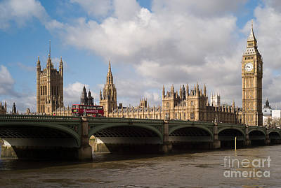 Photograph - Big Ben And Houses Of Parliament by Clarence Holmes