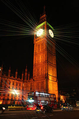 Photograph - Big Ben And London Double Decker Bus by Doc Braham