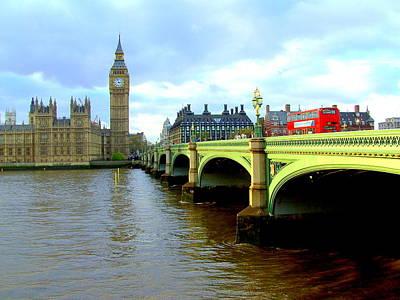 Big Ben And River Thames Art Print