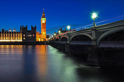 Photograph - Big Ben And Westminster Bridge by Joel Thai