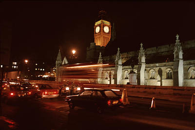 Mountain Landscape Royalty Free Images - Night Lights Big Ben Royalty-Free Image by David Hohmann