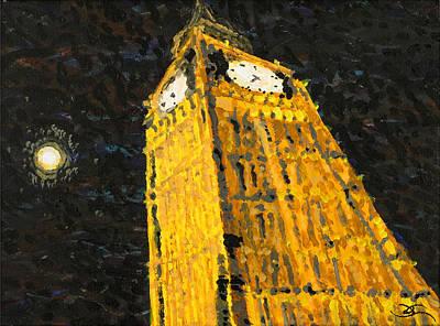 Painting - Big Ben At Night by Joel Tesch