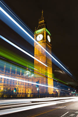 Photograph - Big Ben At Night by Leah Palmer