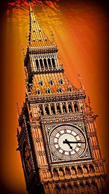 London Skyline Royalty-Free and Rights-Managed Images - Big Ben Atlantis 4 by Stephen Stookey