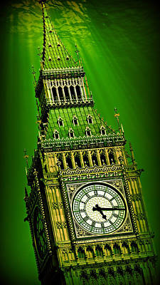 London Skyline Royalty-Free and Rights-Managed Images - Big Ben Atlantis by Stephen Stookey