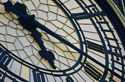 Big Ben Clock Face, London, England Art Print