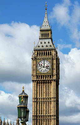 Big Ben Clock Tower And Cleaning Art Print
