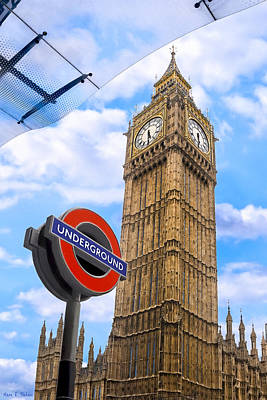 Photograph - Big Ben - Iconic London Landmarks by Mark E Tisdale