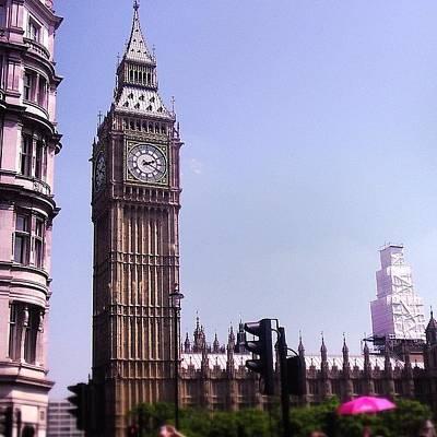 Icon Photograph - Big Ben by Sean Cahill