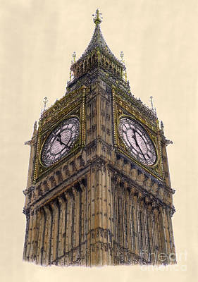 Big Ben Drawing - Big Ben London by Gerald Blaikie