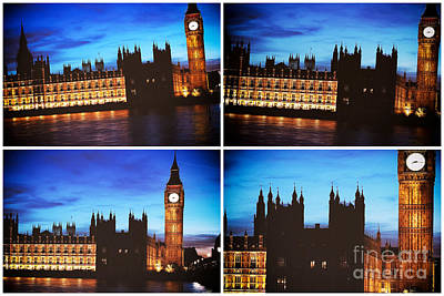Big Ben Panels Art Print by John Rizzuto