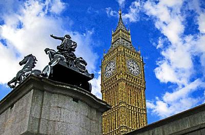 Big Ben Mixed Media - Big Ben by Peter Allen