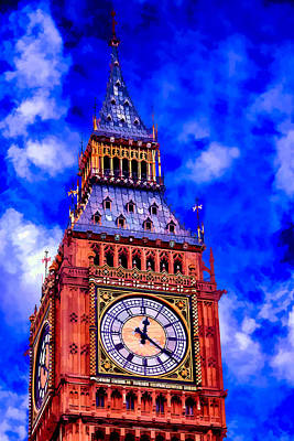 Digital Art - Big Ben by Ray Shiu