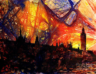 Painting - Big Ben Shocker by Ryan Fox