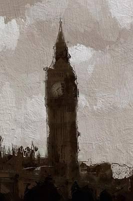 Big Ben Mixed Media - Big Ben by Steve K