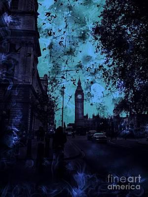 Foreboding Digital Art - Big Ben Street by Marina McLain