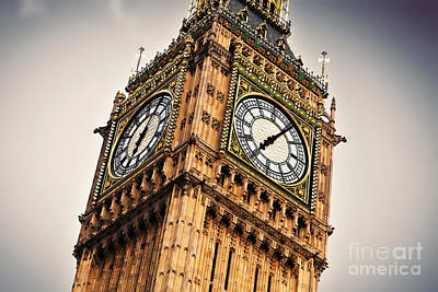 Monument Photograph - Big Ben The Bell Of The Clock by Michal Bednarek