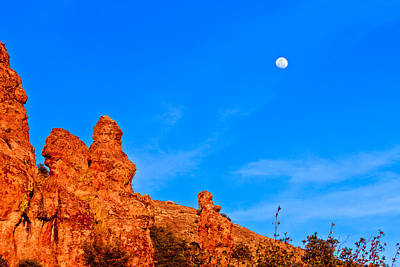 Photograph - Big Bend Mountain And Moon by Ben Graham
