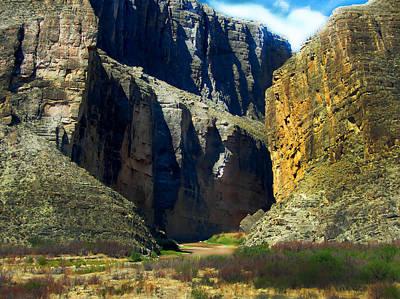 Photograph - Big Bend Santa Elena Canyon by Judy Hall-Folde