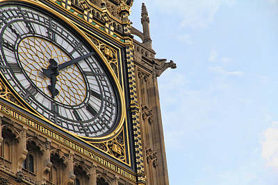 Photograph - Big Ben's Clock Face by Nancy Ingersoll