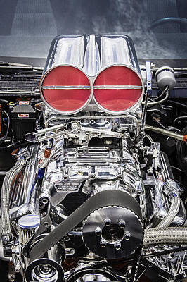 Big Block Chevy Photograph - Big Big Block V8 Motor by Rich Franco
