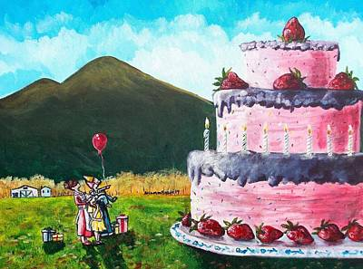 Shana Jackson Painting - Big Birthday Surprise by Shana Rowe Jackson