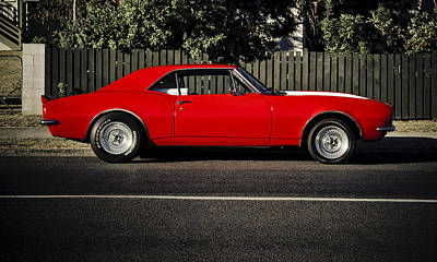 Red Chev Photograph - Big Block Camaro by motography aka Phil Clark
