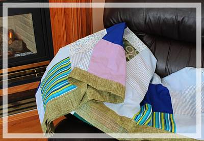 Quilts For Sale Photograph - Big Blocks Patchwork Quilt by Barbara Griffin