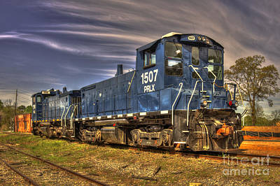 Photograph - Big Blue 1507 Trains Of Madison Georgia by Reid Callaway