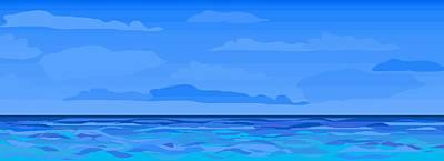 Big Blue 2 Art Print by Alice Butera