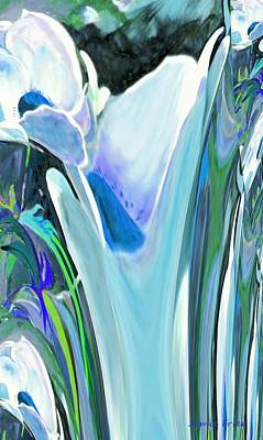 Digital Art - Big Blue Flower by Jamie Frier