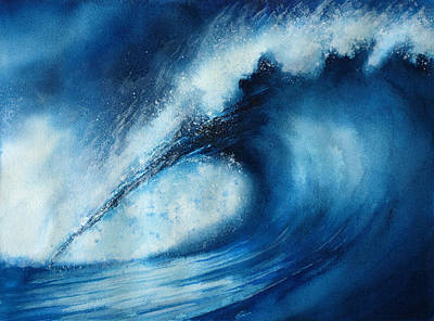 Big Wave Painting - Big Blue Too by Nelson Ruger