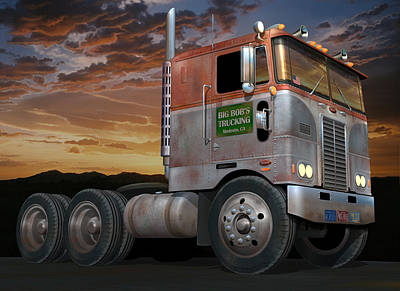 Digital Art - Big Bob's Cabover by Stuart Swartz